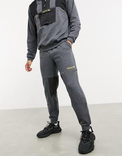 adidas Originals - Adventure – Graue Jogginghose aus Fleece