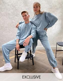 puma - Oversize-Jogginghose in verwaschenem Blau– exklusiv beiASOS