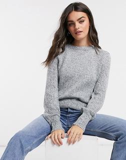 Vero Moda - Blauer Pullover mit Ballonärmeln-Schwarz
