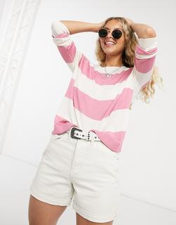 Vero Moda - Gestreiftes Sweatshirt mit Rundhalsausschnitt-Mehrfarbig
