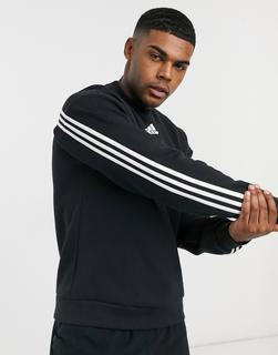adidas Performance - adidas Training – Sweatshirt mit mittigem Logo in Schwarz