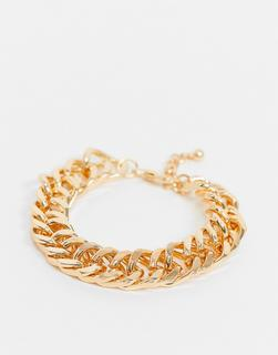 ASOS DESIGN - Grobgliedriges Armband in Gold