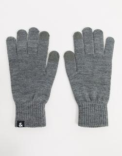 Jack & Jones - Graue Strickhandschuhe