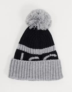NICCE - Mütze mit Logo in Schwarz und Grau