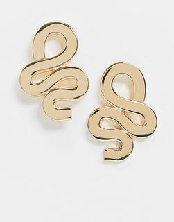 ASOS DESIGN - Goldfarbene Ohrringe mit abstraktem Drehdesign