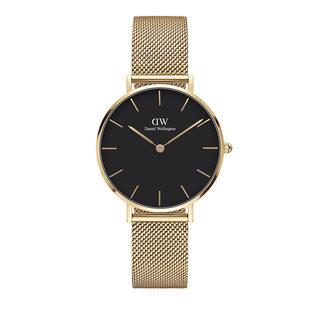 Daniel Wellington - Uhr - Petite 32mm Watch Evergold Black - in gold - für Damen