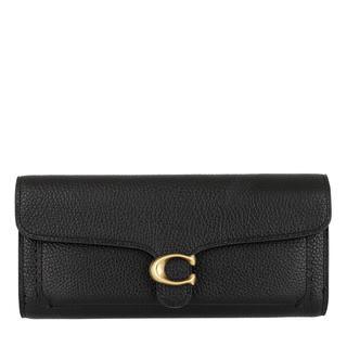 Coach - Portemonnaie - Polished Pebble Leather Charlie Carryall Black - in schwarz - für Damen