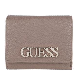 guess - Portemonnaie - Uptown Chic Small Trifold Wallet Taupe - in grau - für Damen