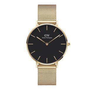 Daniel Wellington - Uhr - Petite 36mm Watch Evergold Black - in gold - für Damen