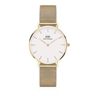 Daniel Wellington - Uhr - Petite 32mm Watch Evergold White - in gold - für Damen