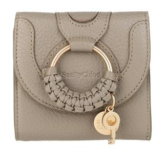See by Chloé - Portemonnaie - Hana Square Trifold Compact Wallet Leather Motty Grey - in grau - für Damen