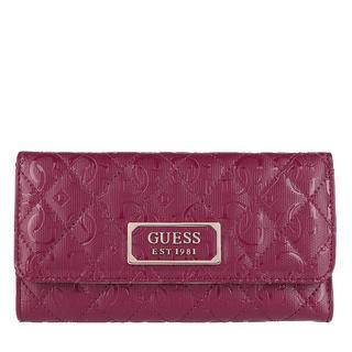 guess - Portemonnaie - Lola Pocket Trifold Wallet Merlot - in pink - für Damen