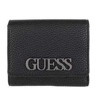 guess - Portemonnaie - Uptown Chic Small Trifold Wallet Black - in schwarz - für Damen