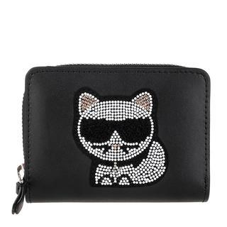 KARL LAGERFELD - Portemonnaie - Choupette Small Fold Wallet Black - in schwarz - für Damen