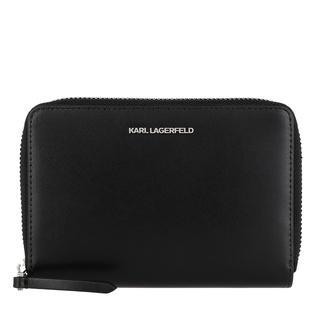 KARL LAGERFELD - Portemonnaie - Seven Medium Zip Wallet Black - in schwarz - für Damen