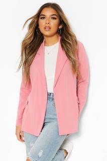 boohoo - Womens Petite Oversized Blazer - Blush - 32, Blush