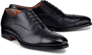 Santoni - Oxford-Schnürschuh in schwarz, Business-Schuhe für Herren