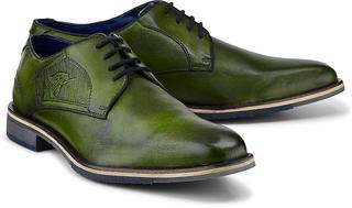 bugatti City - Derby-Schnürer in mittelgrün, Business-Schuhe für Herren