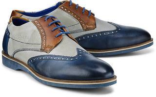 bugatti City - Derby-Schnürer in mittelblau, Business-Schuhe für Herren