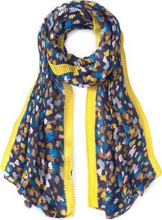 CODELLO - Plissee-Schal Playful Blues in dunkelblau, Tücher & Schals für Damen
