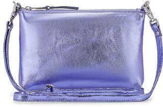 COX - Metallic-Clutch in helles lila, Umhängetaschen für Damen