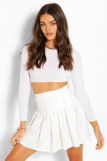 boohoo - Womens Pleated Tennis Skirt - Ivory - 38, Ivory