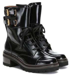 See by Chloé - Ankle Boots Mallory aus Lackleder