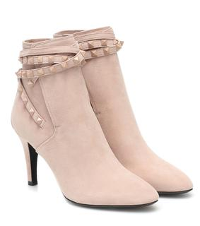 Valentino Garavani - Ankle Boots Rockstud Flair aus Veloursleder
