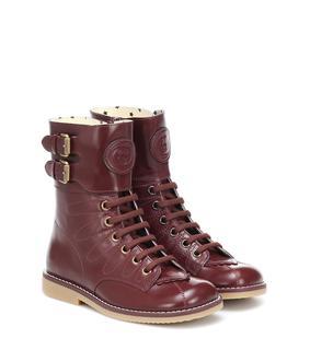 Gucci Kids - Ankle Boots aus Leder