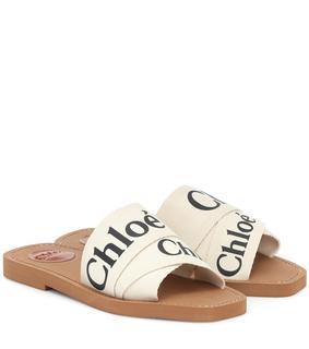 Chloé - Sandalen Woody aus Canvas