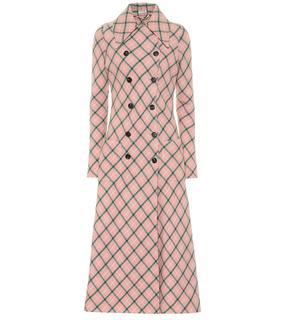 Miu Miu - Karierter Mantel aus Wolle