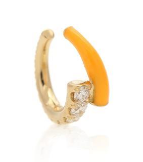 Melissa Kaye - Einzelner Ear Cuff Lola aus 18kt Gelbgold mit Diamanten