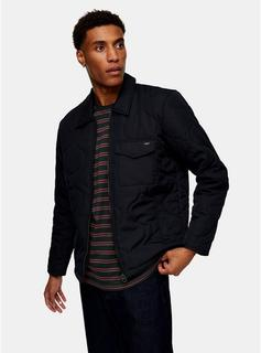 Only & Sons - Mens Only & Sons Navy Quilted Jacket, Navy