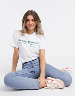 ASOS DESIGN - Be Kind – T-Shirt in Weiß