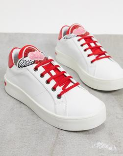 Love Moschino - Weiße Sneaker zum Schnüren