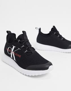Calvin Klein - Jeans – Sneaker mit Logo in Schwarz