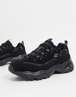 Skechers - D Lites – Sneaker in Schwarz