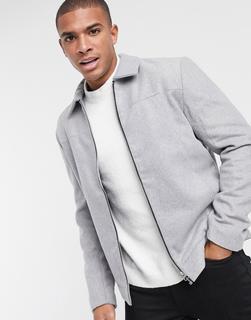 Only & Sons - Elegante Business-Jacke aus hellgrauer Wolle