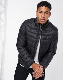 Calvin Klein - Jacke aus recyceltem Nylon in Schwarz