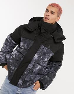 Calvin Klein Jeans - Pufferjacke mit Wolkenprint in Schwarz