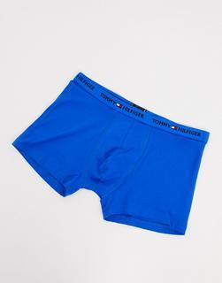 TOMMY HILFIGER - Blaue Unterhose mit Logobund