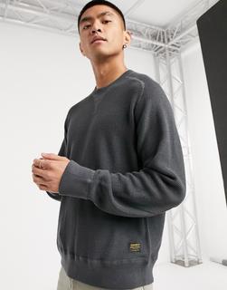Carhartt WIP - Moross – Sweatshirt in Blacksmith-Grau