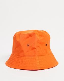 ASOS DESIGN - Anglerhut mit schmaler Krempe aus Tech-Material in Orange