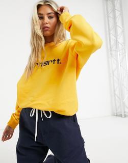 Carhartt WIP - Sweatshirt mit Logo in Sonnenblume und Schwarz-Gelb