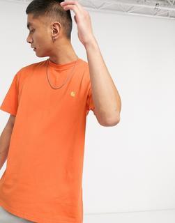Carhartt WIP - Chase – T-Shirtin Uhrwerk & Gold-Orange