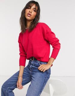 French Connection - Pullover in Rosa mit überschnittenen Schultern