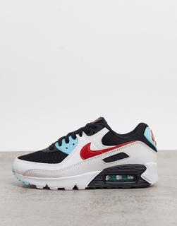 Nike - Air Max 90 – Sneaker in Weiß, Rot und Blau