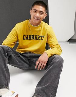 Carhartt WIP - College-Sweatshirt in Colza & Schwarz-Gelb