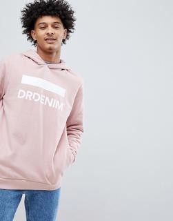 Dr Denim - Ace – Übergroßer, rosafarbener Kapuzenpullover