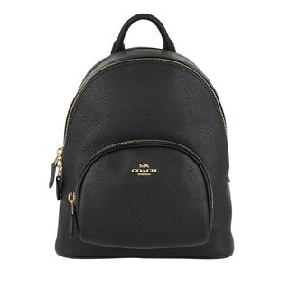 Coach - Rucksack - Polished Pebble Leather Carrie Backpack Black - in schwarz - für Damen